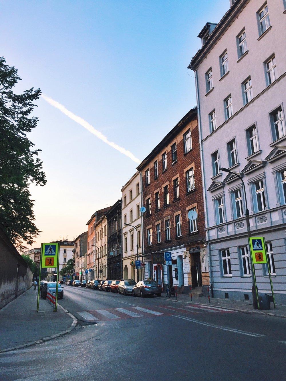 A view of our street, Krowoderska.