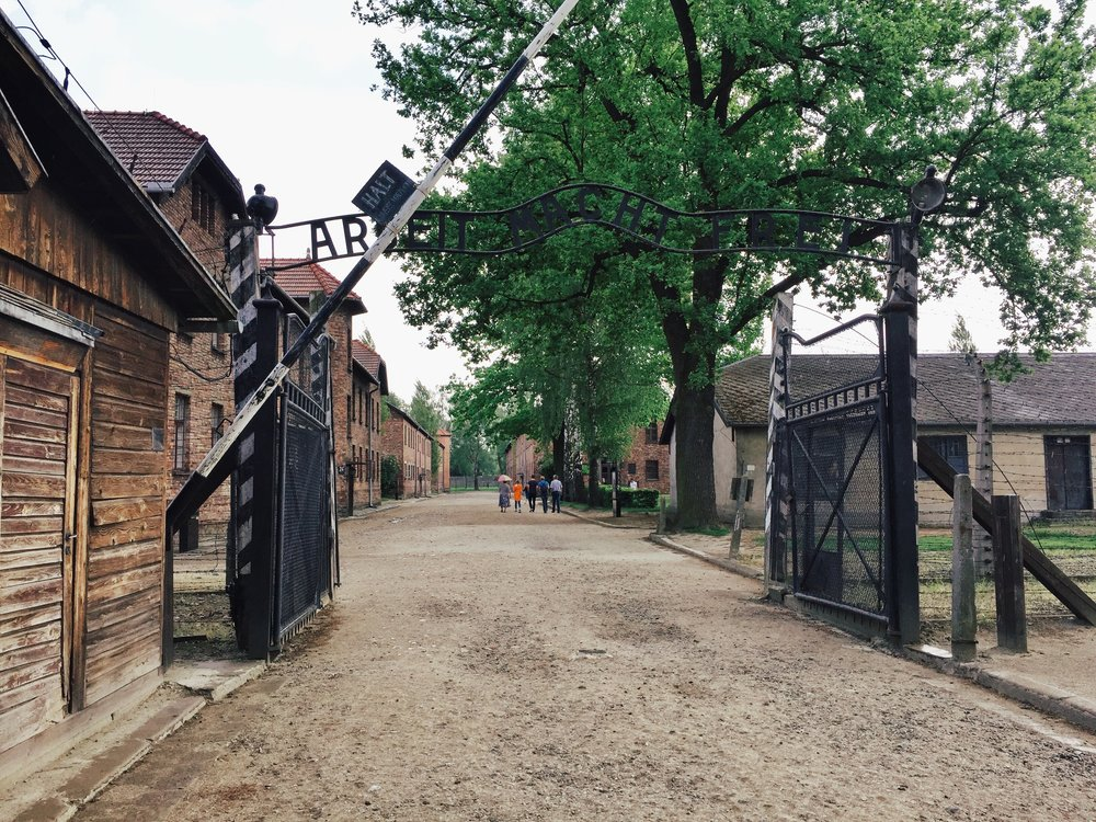 """Arbeit Macht Frei"" - the entrance to Auschwitz I. A bone-chilling experience."