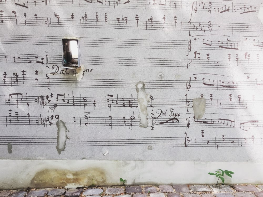 A wall at the  Fryderyk Chopin University of Music.