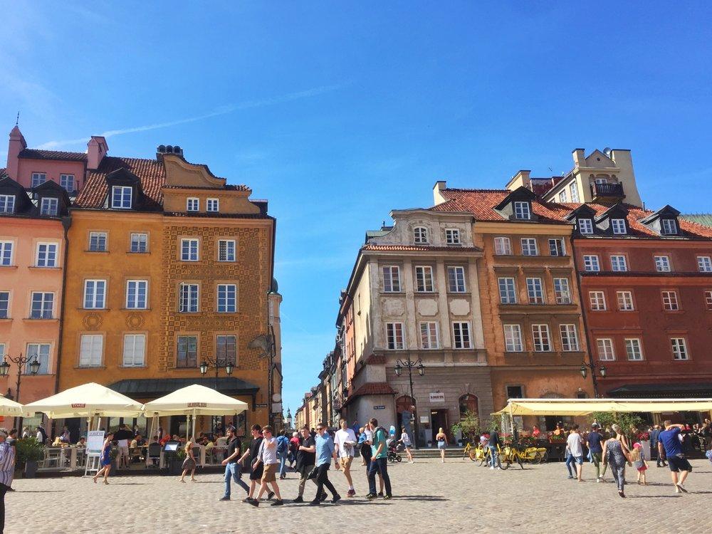 Walking through Old Warsaw.