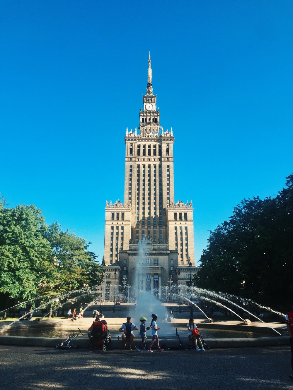 Warsaw's Palace of Culture and Science - a Soviet beauty.