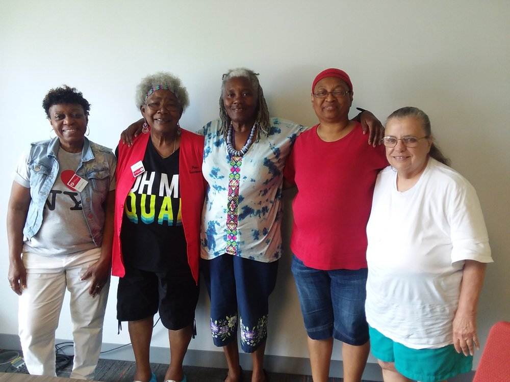 Foster Grandparents (left to right): Sarah T., Shirley W., Carol A., Evelyn H., and Audrey W. (Not Pictured: Sharon W.)