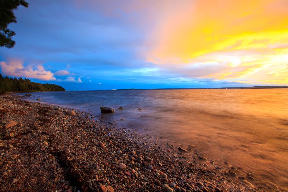 Strandlinje på Jeløy