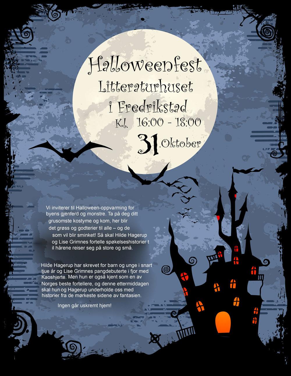 Halloween og Halloweenfest i Litteraturhuset i Fredrikstad