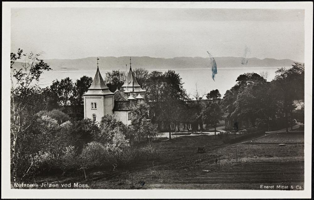 ©. Refsnæs Jeløen ved Moss. Ukjent dato for fotografering, men sannsynlig fotografert en gang mellom 1910 - 1920. Bildefilen er kjøpt og eies av Visit Hvaler/Østfoldguide -Dahl Media