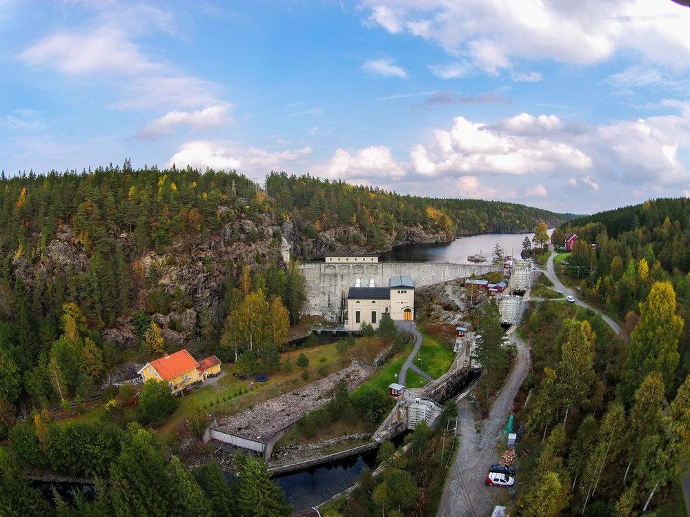 Brekke Sluser - Skandinavias høyeste sluse. Foto: Visit Hvaler