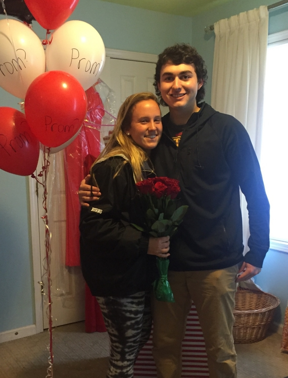 "Junior Andrew LeClair's ""promposal"" to sophmore Riley Burns."