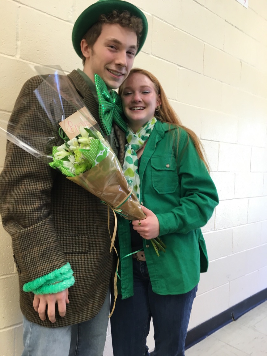 "Junior Seth Blair's ""promposal"" to sophomore Ayla Erwin."