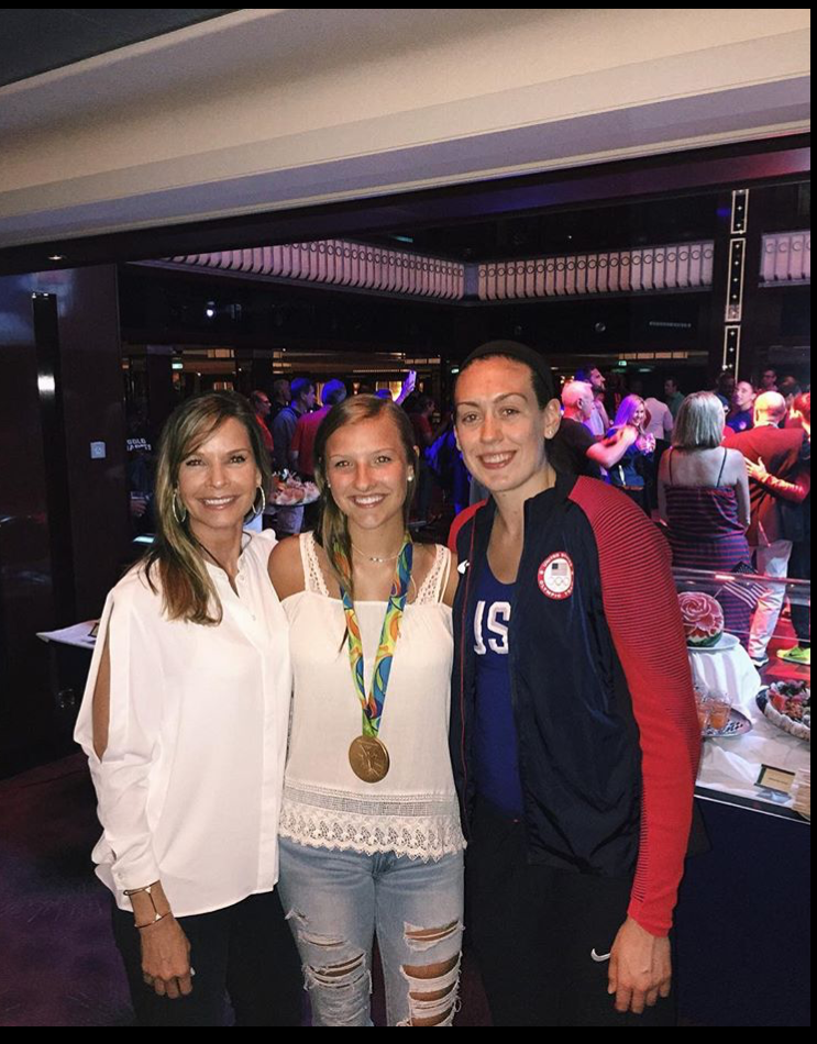 Jamie Boeheim and her mother got to chat with Breanna Stewart of Team USA's basketball team.