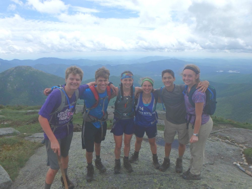 Jamesville-DeWitt High School senior Sadye Bobbette (third from left), pictured above with her hiking friends who completed the task of climbing the 46 peaks of the Adirondack Mountains.