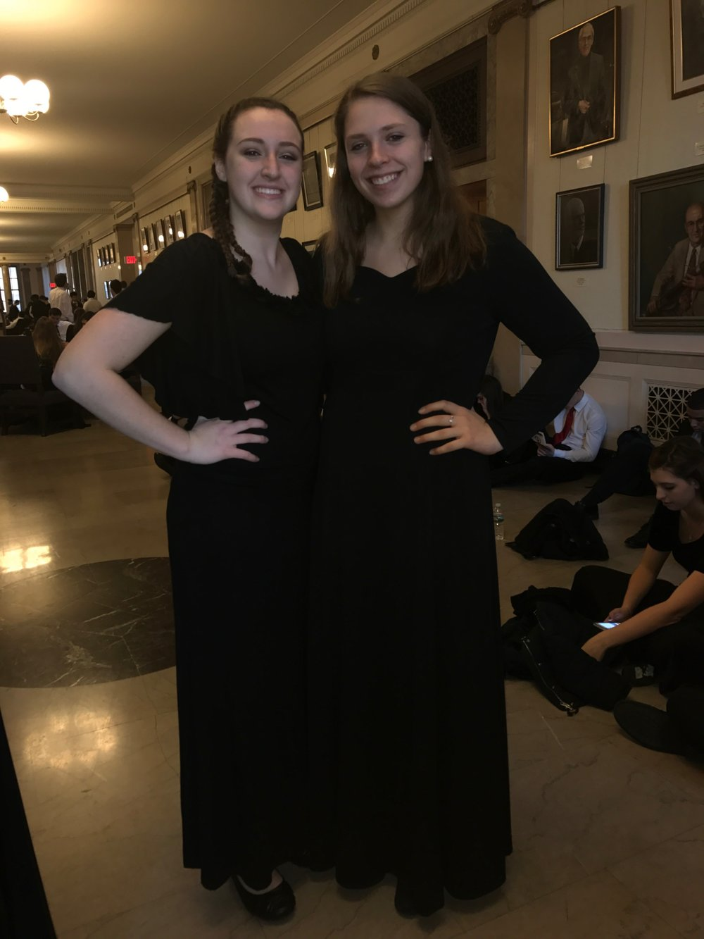 Marissa Digennaro (left) and Catherine Cargian at NYSSMA (right)