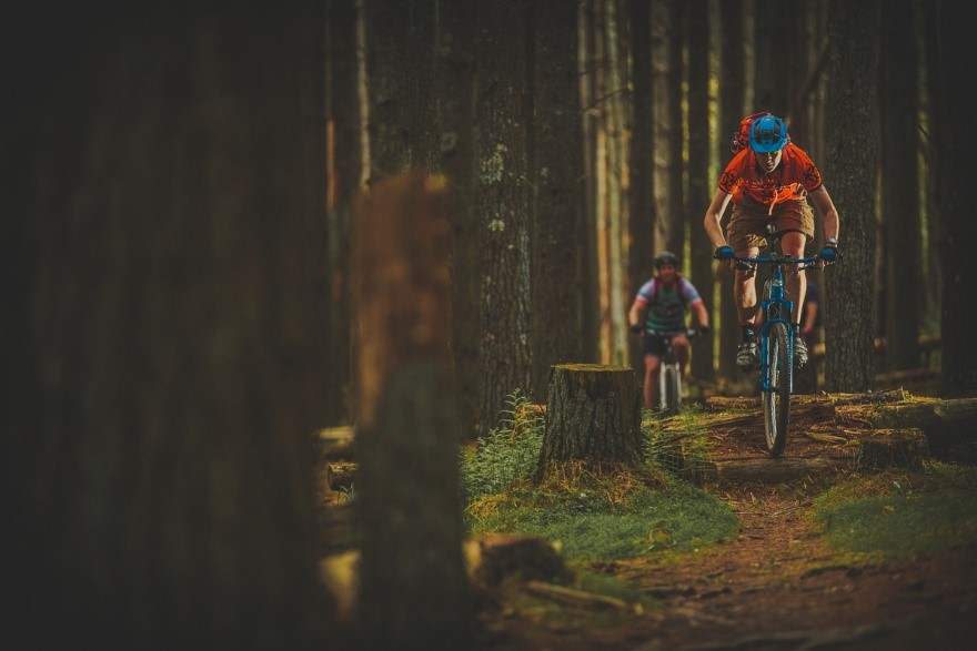 Bikers enjoying the outdoor amenities around the City of Roanoke.