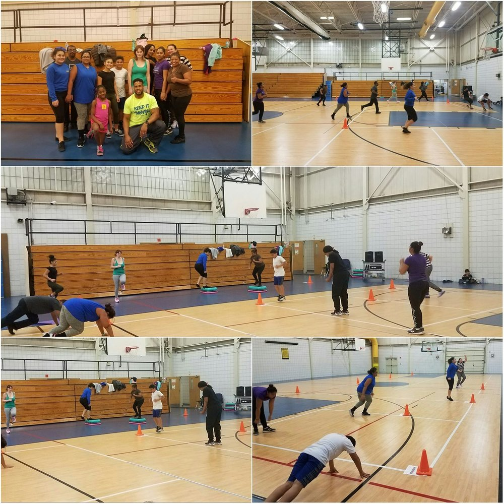 Hopewell residents participating in the Sports Backers' Fitness Warriors program, a free fitness instructor training program.
