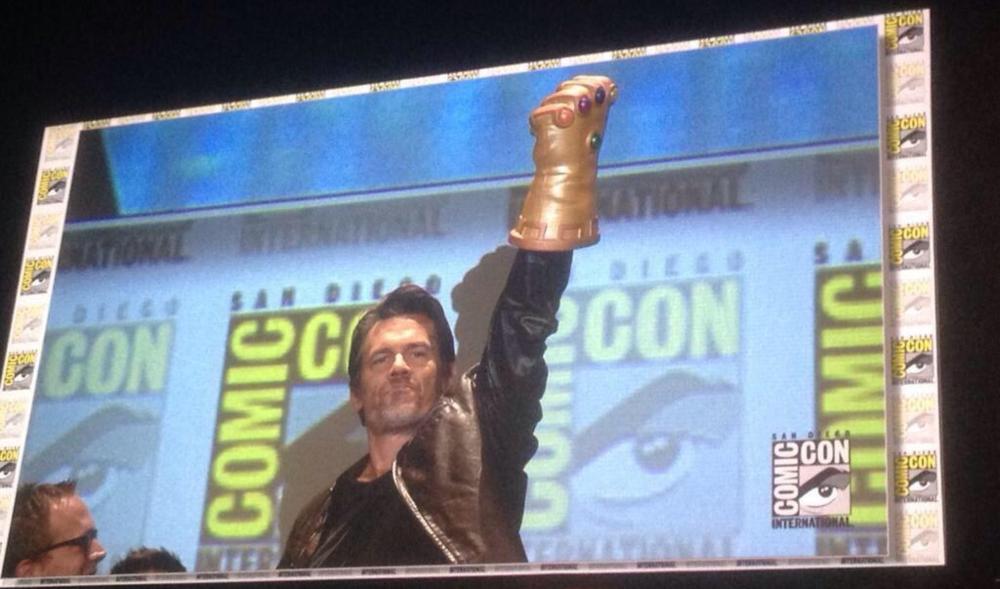 Josh Brolin with the Infinity Gauntlet