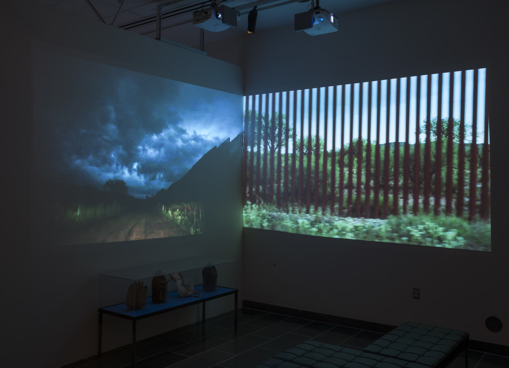 State of Exception video installation view, University of Michigan, 2012
