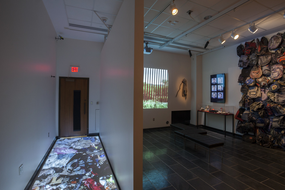 State of Exception installation view, University of Michigan, 2012