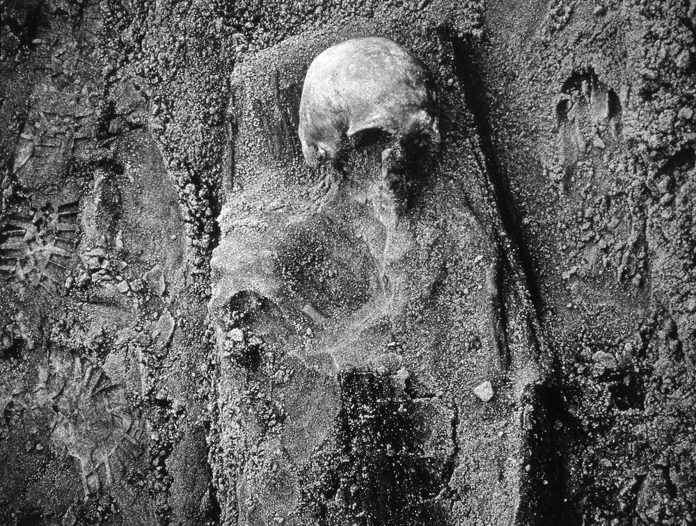 Skull With Footprints, 1994