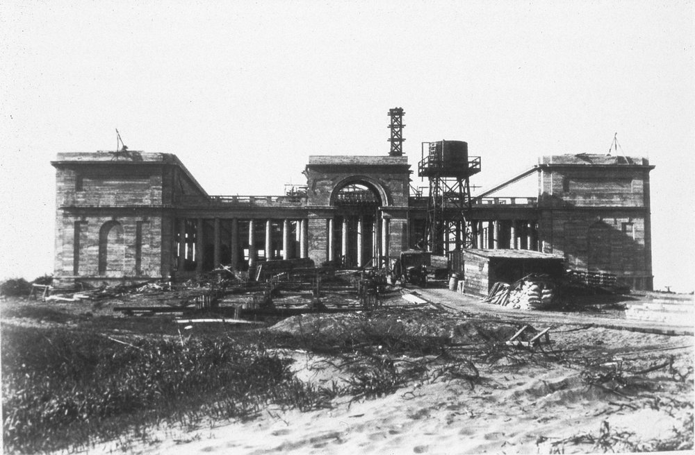 Legion of Honor, San Francisco, under construction, ca. 1920
