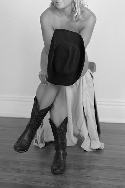 Boudoir Photography Western Motif