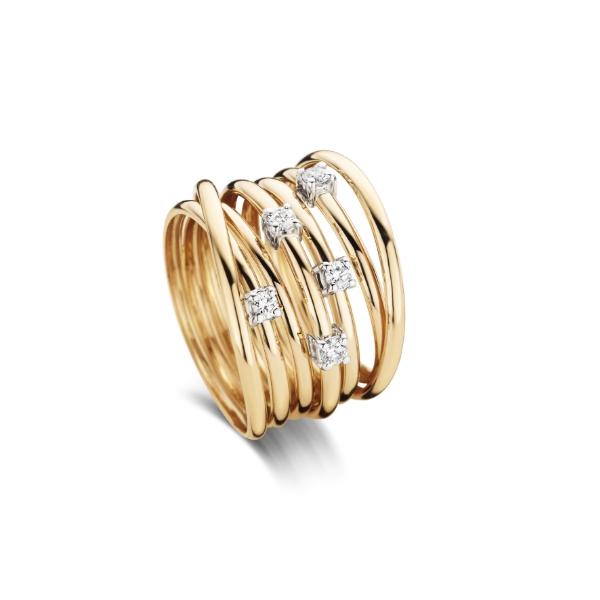 ring roze goud 18kt, diamant, 1580 EUR