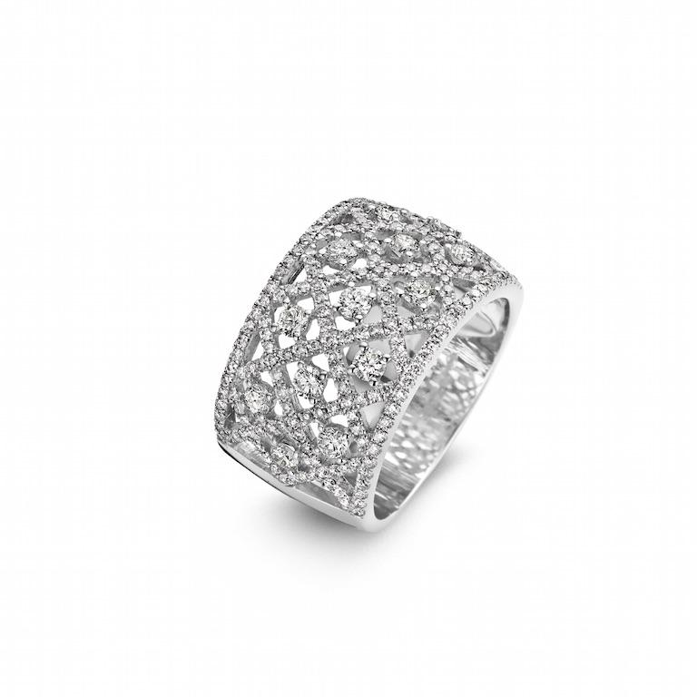 Ring wit goud, 18kt, diamant - € 5280