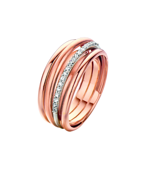 ring rosé goud briljant