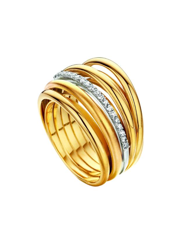 ring geel goud briljant