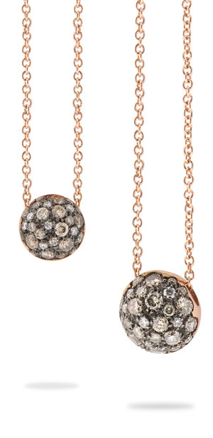 Hangers Brusi rosé goud/bruine diamant.  vanaf 1550 EUR