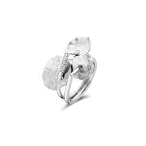 handgemaakte ring wit goud 18kt, diamant G. Cuyvers  1570 EUR