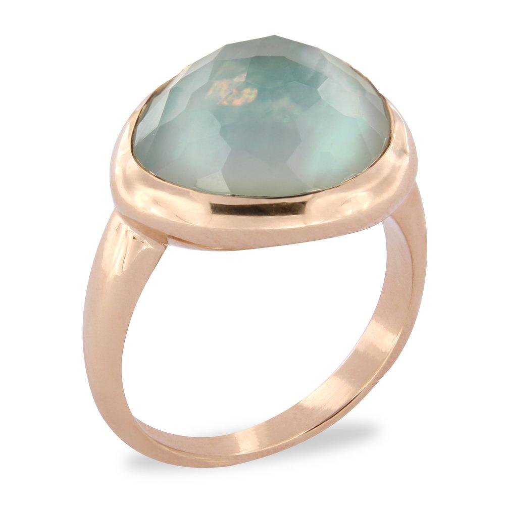 Brusi Ring Blauwe Quartz