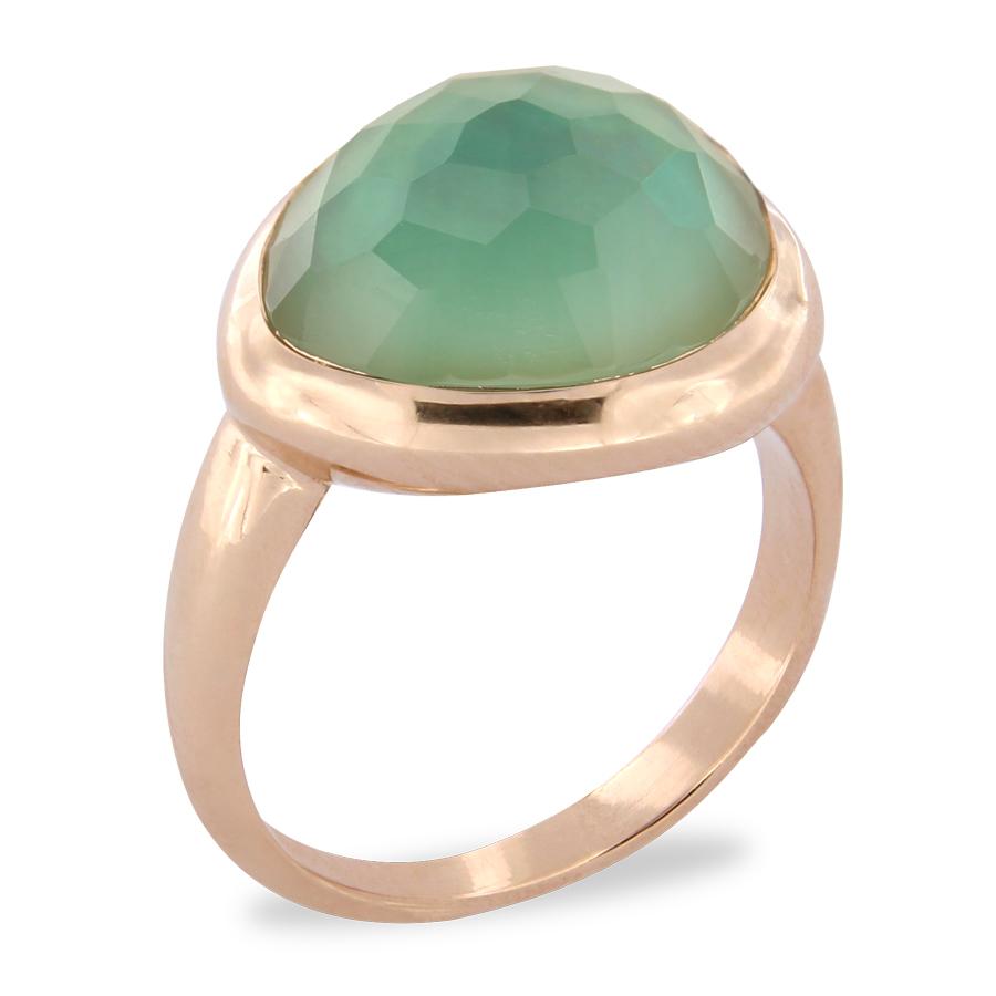 Brusi Ring Groene Quartz
