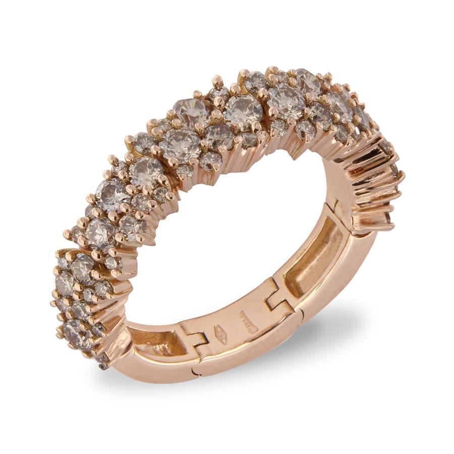 Brusi 'Brightfall' ringen in rosé goud met witte diamant