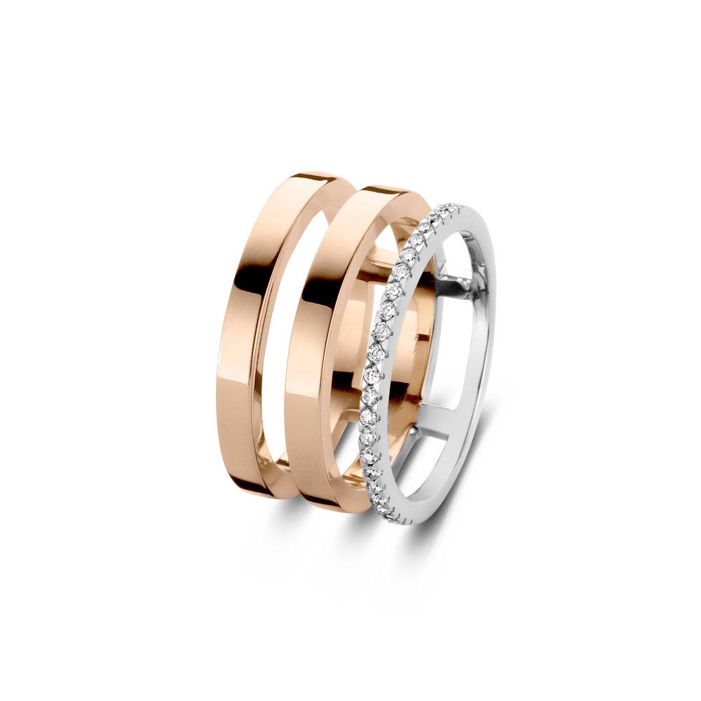 Ring roségoud, diamant € 2460