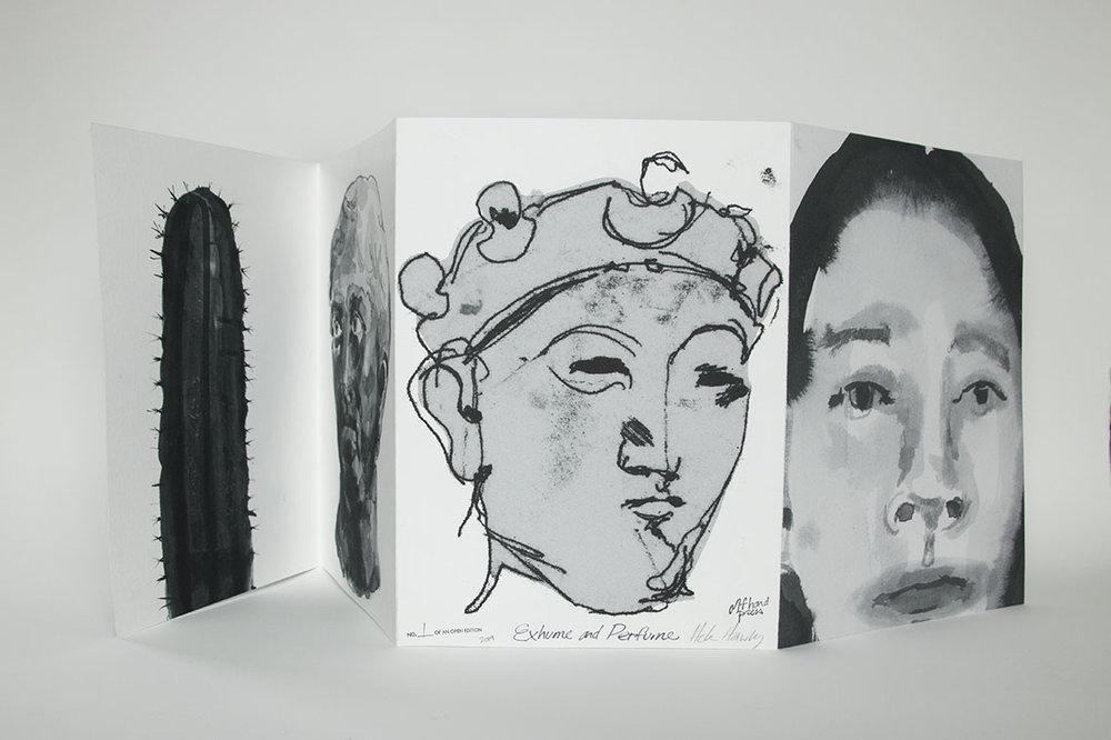 "Exhume and Perfume, 2018, inkjet on Hahnemühle, 13"" x 9 1/2"""