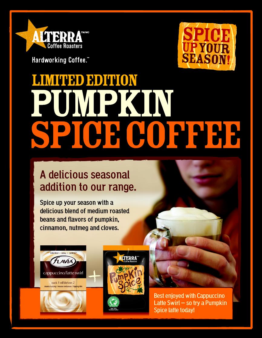 Alterra Pumpkin Spice Announcement Flyer