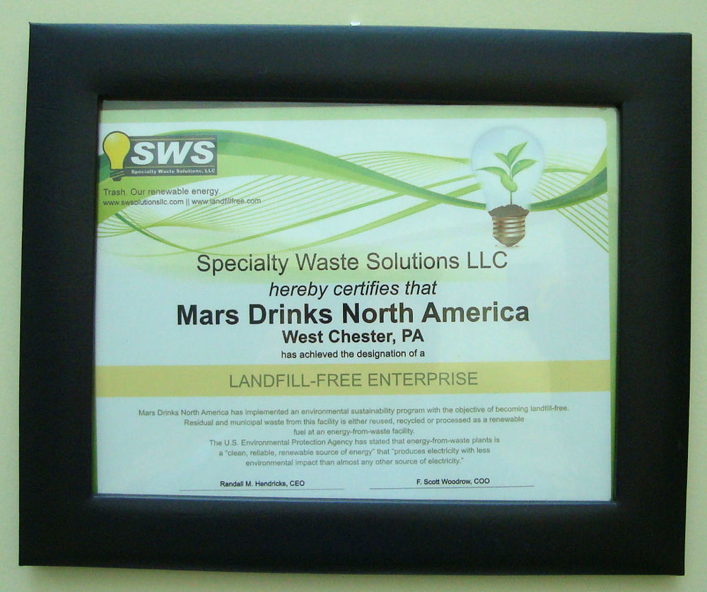 Mars Drinks Landfill-Free Sustainable Facility