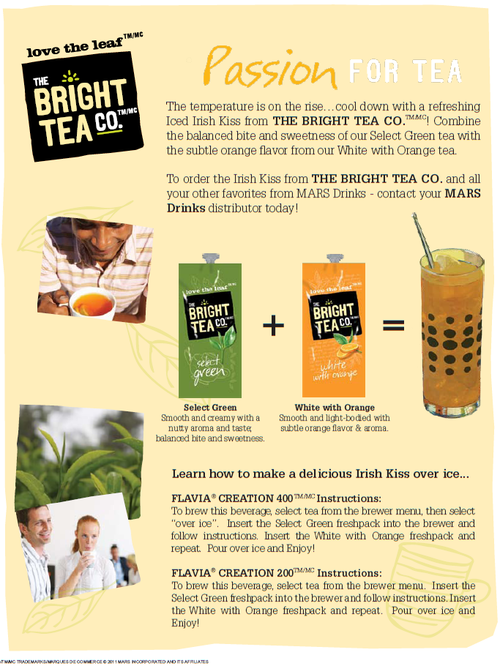 Mars Drink Of The Month Irish Kiss The Coffee Refreshment Experts