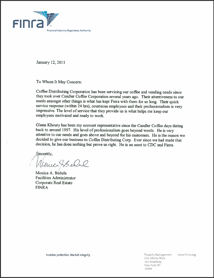 finra-letter Official Letter To Customer Template on character reference, tenant reference, real estate yellow, personal loan agreement, salary increase, address change, late tenant warning, editable cover, best cover, employee promotion, offer withdrawal, sample sales,