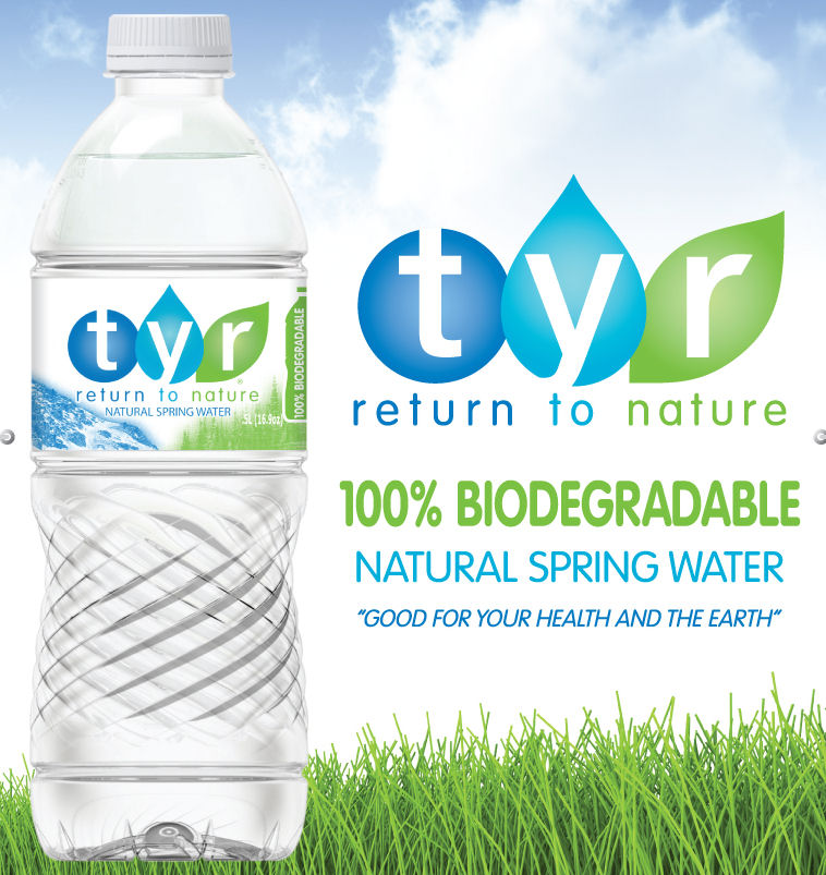 Tyr Biodegradable Water Bottles