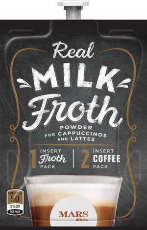 To brew a two-pack drinks with your Flavia machine, first use the Real Milk Froth packet, and then insert your favorite coffee or tea filterpack when ...