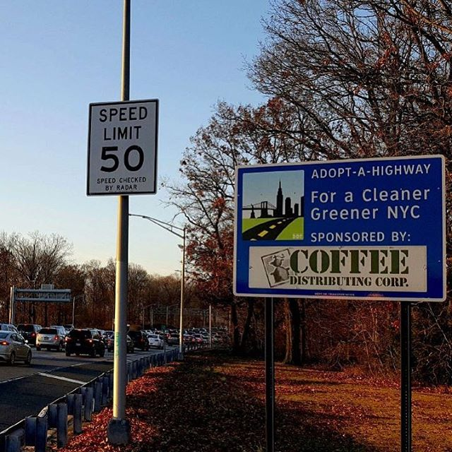 Slow down and admire our newest Adopt-A-Highway sign!