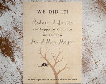 Isn't it much easier sending one of these than a pricey wedding invitation?