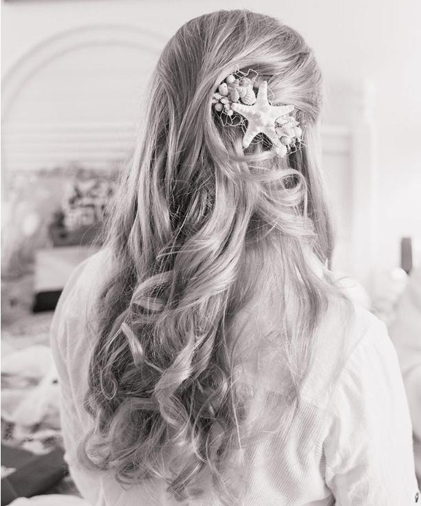 Beach theme hair accessories