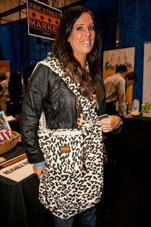 Patti Stanger, Black Leopard Canvas Tote, June 2012