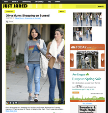 Olivia Munn, Just Jared, Chinchilla Vegan Fur Tote, January 2012
