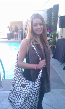 Sasha Pieterse, Polka Dot Silky Tote, January 2012