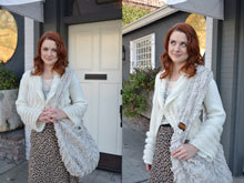 Alexandra Breckenridge, Sheepskin Vegan Fur Tote, January 2012
