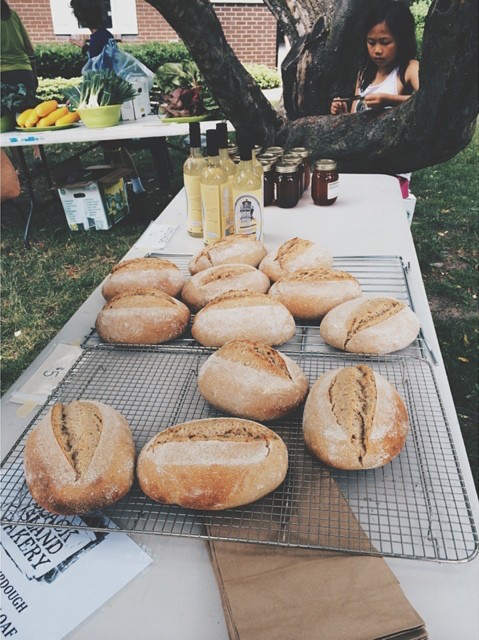 Black Island Bakery bread is available at the Beechwood neighbourhood summer market in Waterloo.