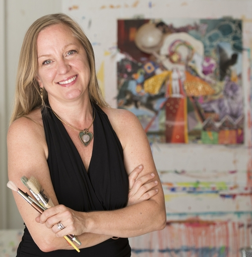 Montine Blank - An Intuition Painting Master Facilitator and Certified Transformational Coach.
