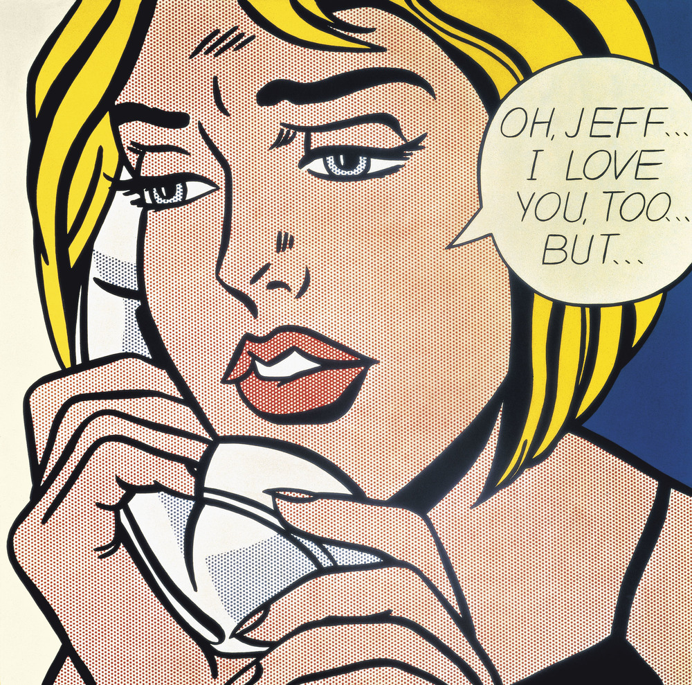 "Roy Lichtenstein's ""Oh, Jeff... I love You, Too... But..."" (1964)"